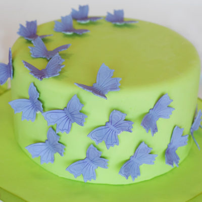 Blue Butterfly Cake in lahore