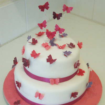 Pink Butterfly Cake in lahore