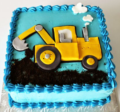 Digger Tractor Cake