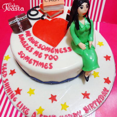 Female Doctor Medical Cake in lahore