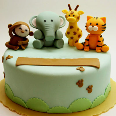 Safari Animals Cake in lahore