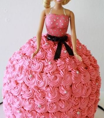 Barbie Pink Dress Cake character cakes in lahore