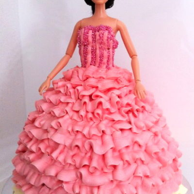 Barbie Dress Cake character cakes in lahore