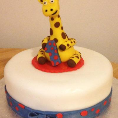 Giraffe Ribbon Cake character cakes in lahore
