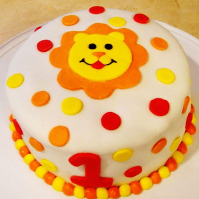 Lion Dots Cake in lahore