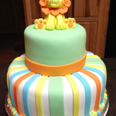 Lion 2 Tier Cake in lahore