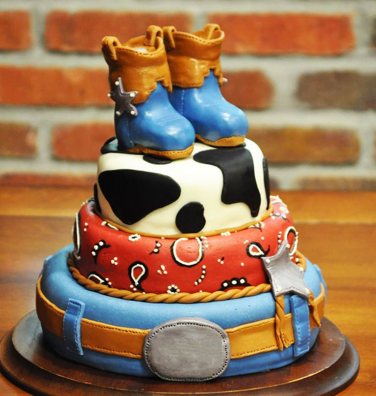Cowboy Shoes 3 Tier character cakes in Lahore