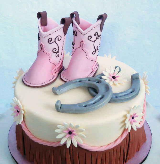 Cowboy Shoes Cake character cakes in Lahore