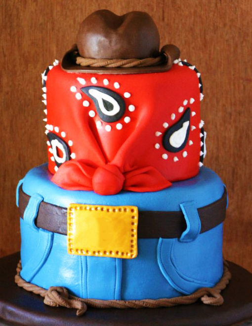 Cowboy Red Blue Cake character cakes in Lahore