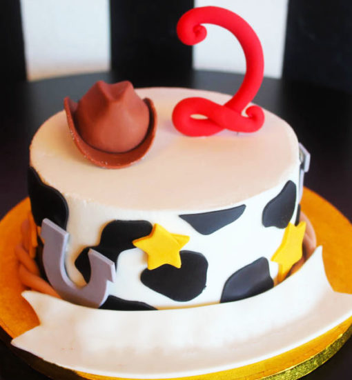 Cowboy White Theme Cake character cakes in Lahore