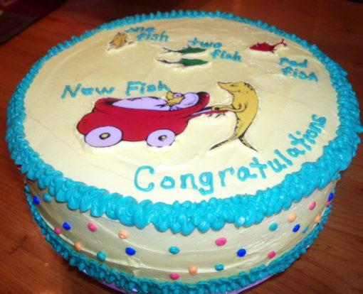 Dr. Seuss Cream Cake in lahore