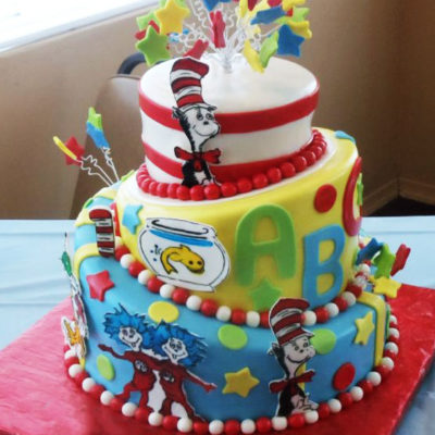 Dr. Seuss 3 Tier Cake in Lahore