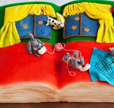 Goodnight Moon Book Cake in lahore
