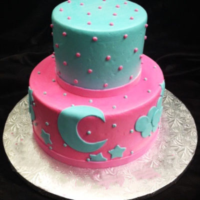 Goodnight Moon Pink Theme Cake in lahore