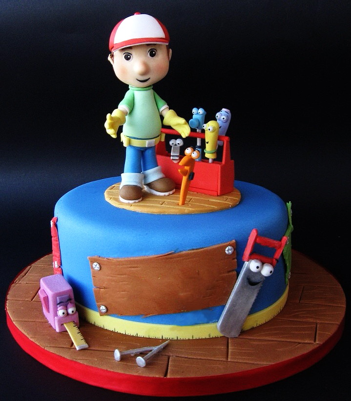 Handy Manny Blue Cake in Lahore