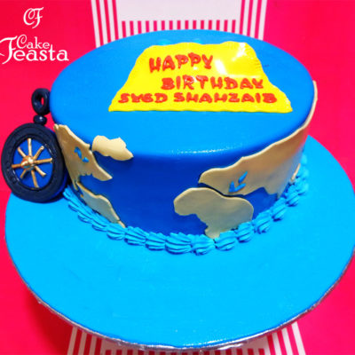World Sea Birthday Cake in Lahore