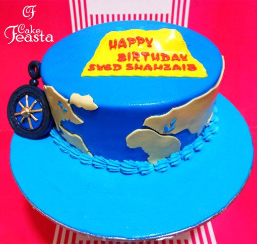 World Sea Birthday Cake in Lahore