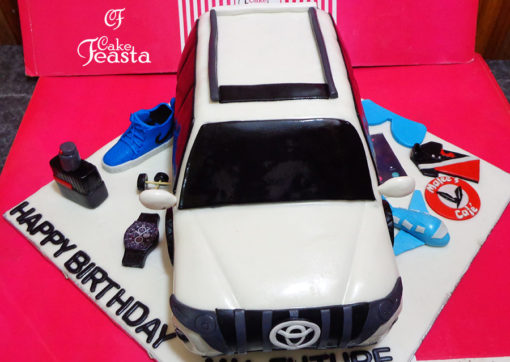 White Jeep Birthday Cake in Lahore