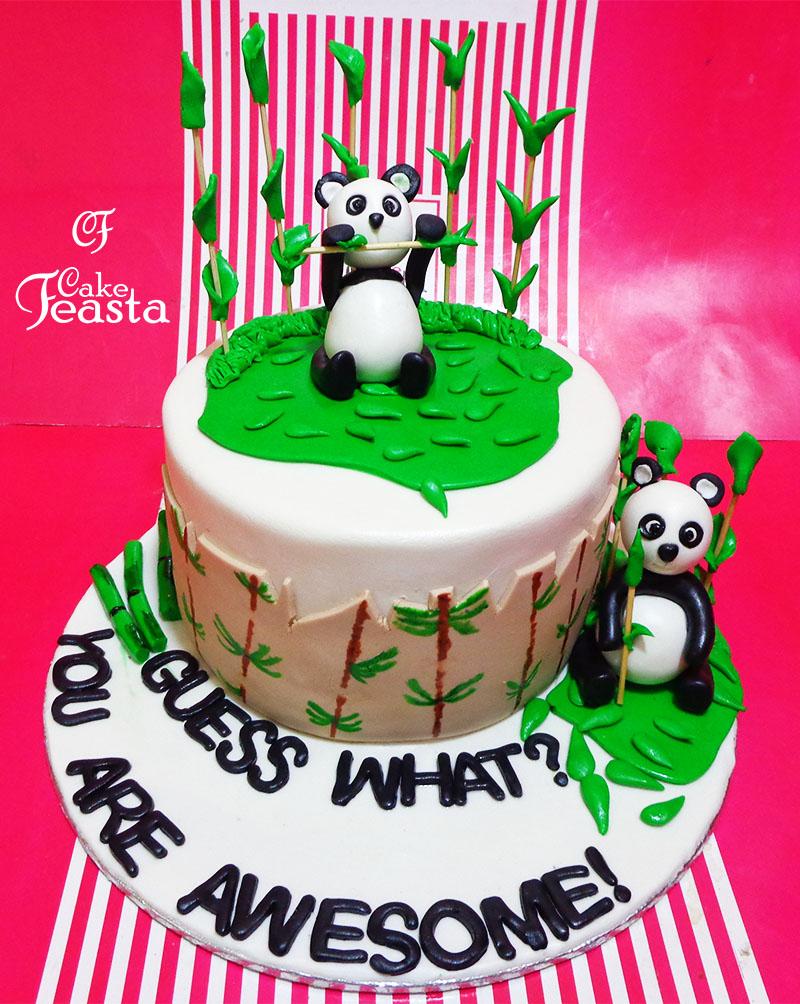 Panda Birthday Cake in Lahore