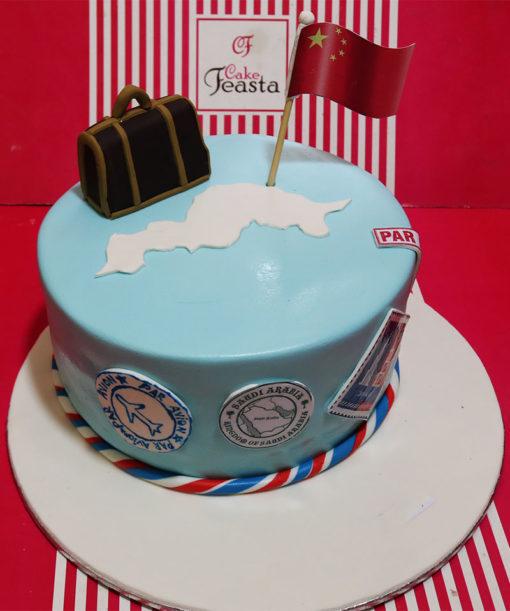 China Flag Tour Celebration Cake in lahore