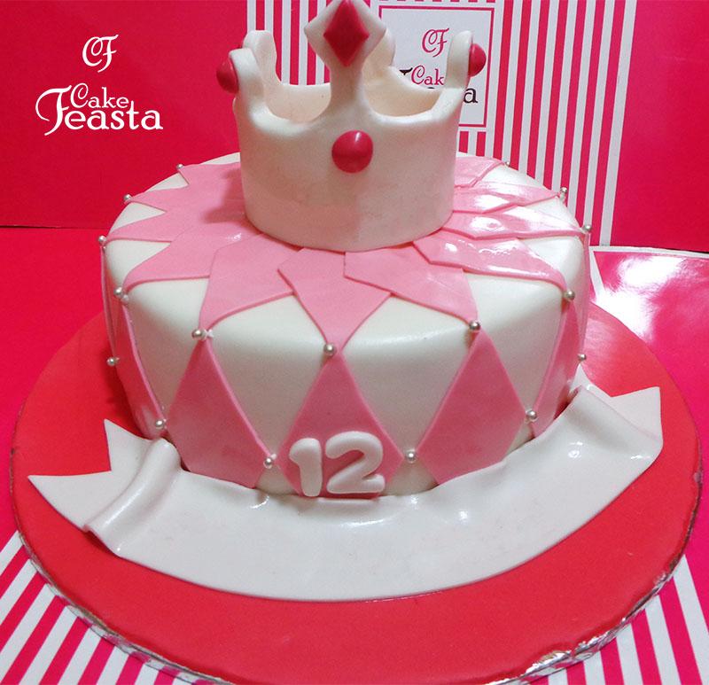 White Crown Birthday Cake Birthday Cake For Girls