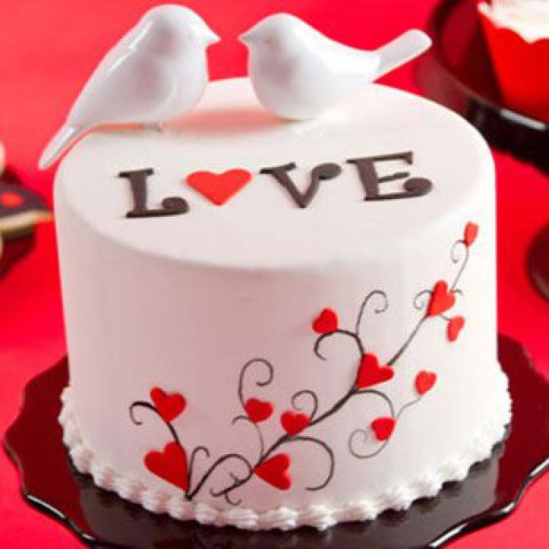 dove valentines day cake - valentine day special cakes in lahore, Ideas