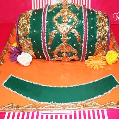 Green Theme Wedding Cake in Lahore