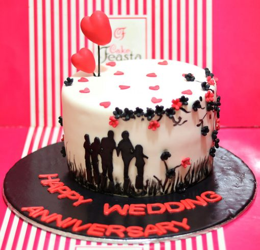 Little Hearts Anniversary Cake in Lahore