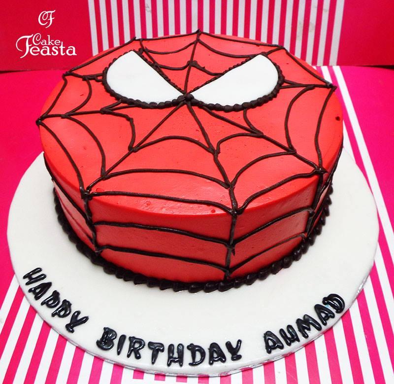 Spiderman Small Birthday Cake