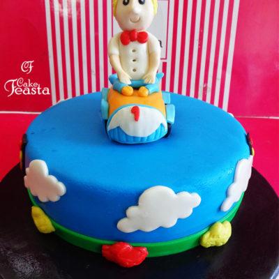 Bendy Car Birthday Cake