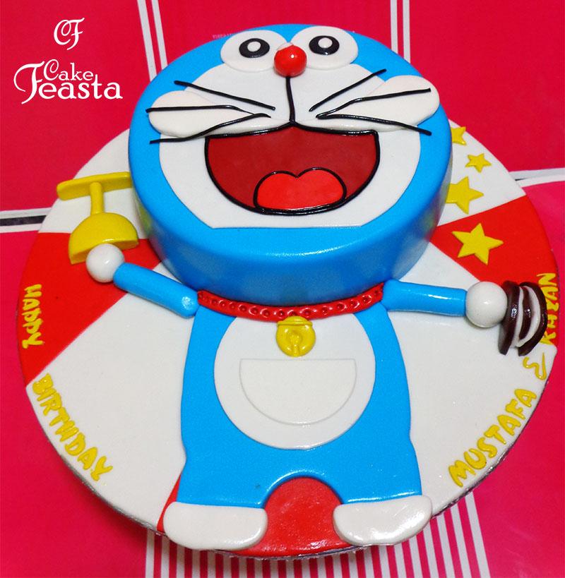 Big Doraemon Birthday Cake Customized Cakes in Lahore