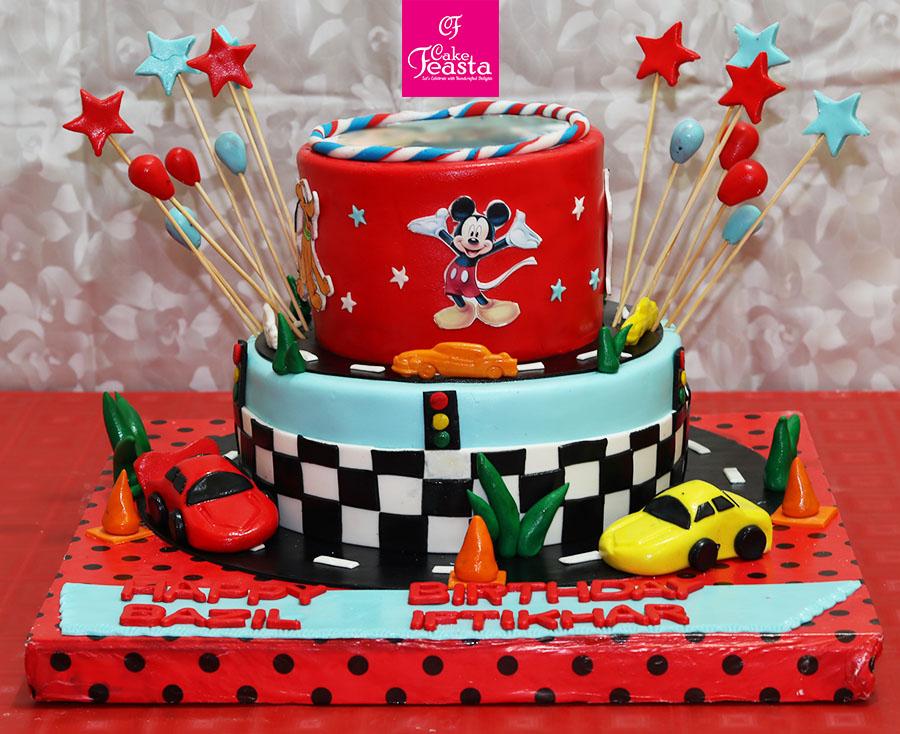 Cars Track Kids Birthday Cake