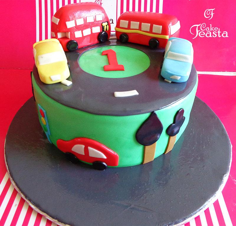 Double Decker Bus Birthday Cake