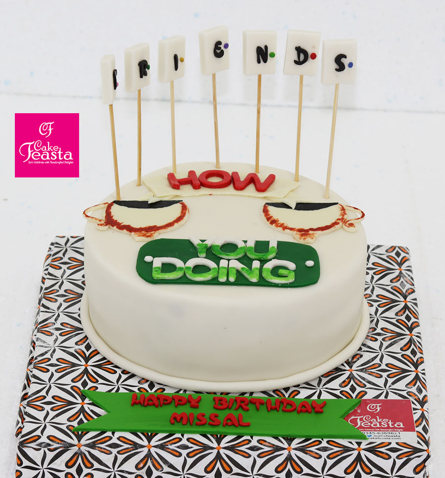 Friends Birthday Cake Customized Cakes In Lahore
