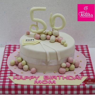50 Years Mom Birthday Cake