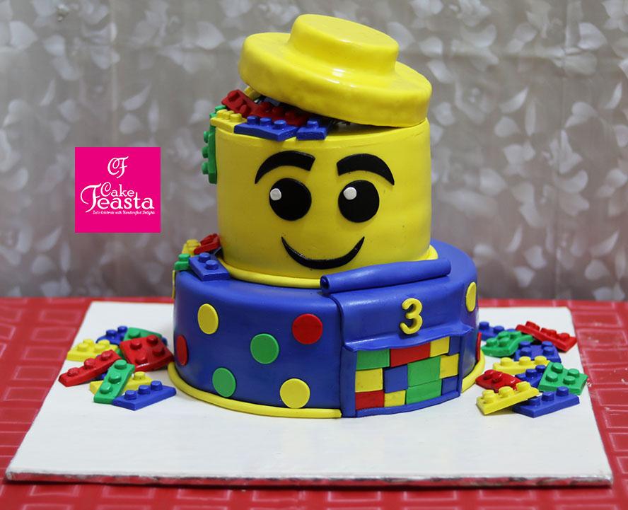Lego Character Kids Birthday Cake