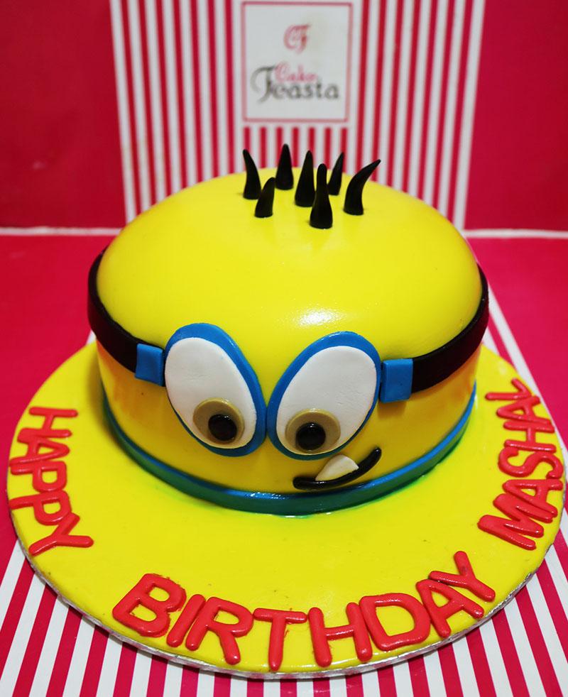 Naughty Minion Birthday Cake Customized Cakes In Lahore