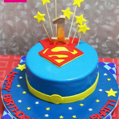 Superman First Birthday Cake