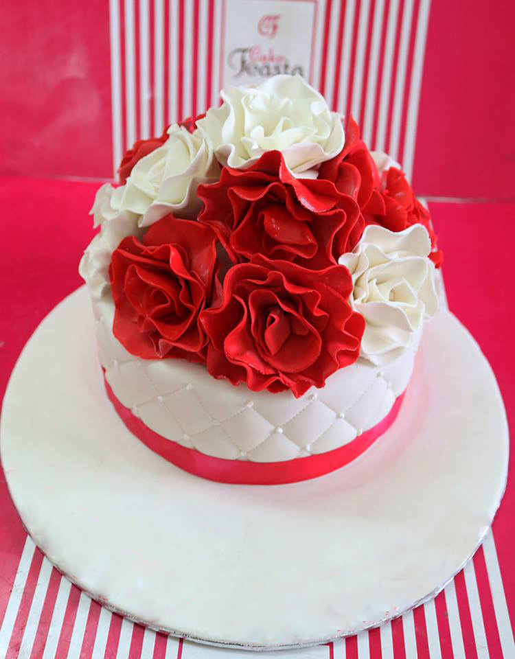 Red White Flowers Mother S Day Happy Mothers Day Cake Designs