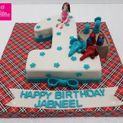 1st Digit kids birthday cake