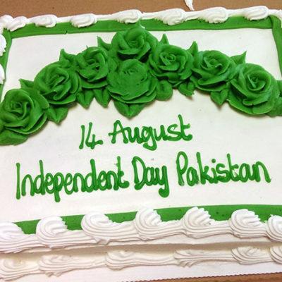 Green Flowers 14 Aug Cake