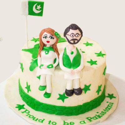 Proud Pakistani 14 Aug Cake