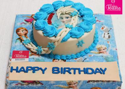 Elsa Frozen Picture Cake