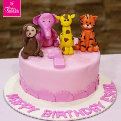 Animal Caracters Birthday Cake