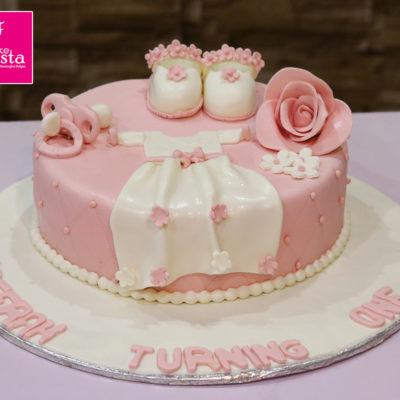Baby Girl Dress Shower Cake