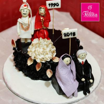 Barat Theme Anniversary Cake