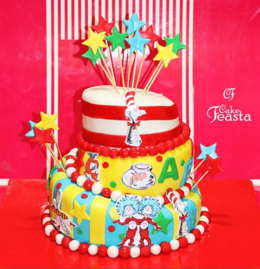 Cartoon 3 Tiers Funny Birthday Cake
