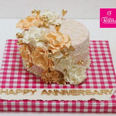 Golden Flower Anniversary Theme
