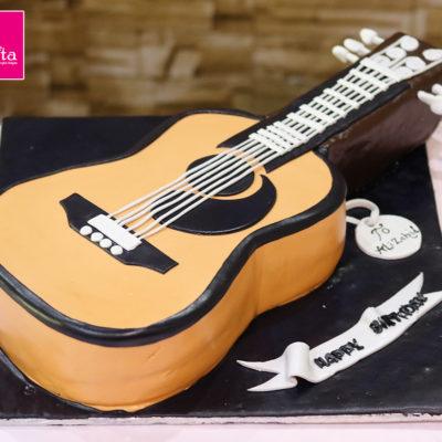 Guitar Music Lover Birthday Cake