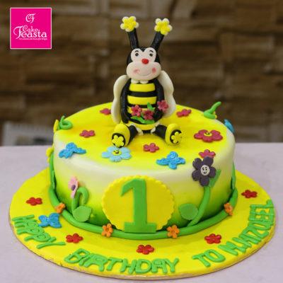 HoneyBee Character Birthday Cake